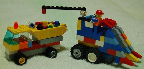 レゴでコンバイン&トラック